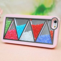 Nice Pink Triangle Hard Cover Case For Iphone 4/4s