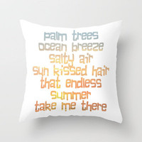 Endless Summer Throw Pillow by Ally Coxon | also available as prints, canvas, cards, iphone cases & skins Society6