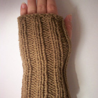 Men Fingerless Driving Gloves in Camel by toppytoppy on Etsy