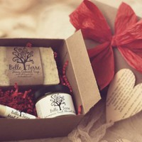 Red Gift Box - Soap, Lotion, And Lip Balm | Luulla
