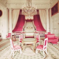 Princess Pink Chambers - Versailles - Paris - Pink White - Fine Art Travel Photography 8x10"