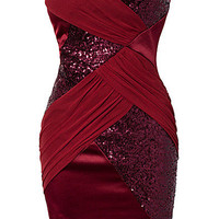 Sequin Mesh Bandeau Dress, Elise Ryan