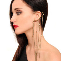 GYPSY WARRIOR - Multi Chain Ear Cuff