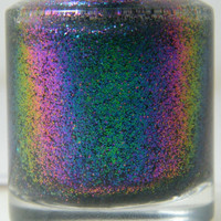 Jupiter Aurora Multi Chrome color shift glitter nail polish Full size .5 oz. Coco Allure