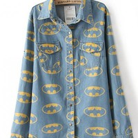 Batman Superhero Jean Jacket Shirt