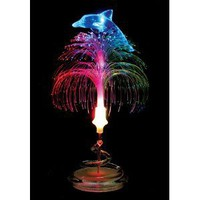 LED Fiber-Optic Table Lamp/Night Light - Dolphin