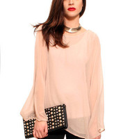 GYPSY WARRIOR - Dusty Rose Bell Sleeve Blouse