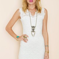 Lara Lace Dress - Ivory in  What's New at Nasty Gal