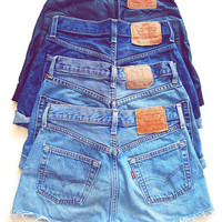 ALL SIZES Plain LEVI'S Denim Shorts