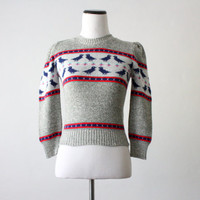 vintage bird sweater