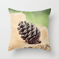 Pinecone Throw Pillow by Around the Island (Robin Epstein) | Society6