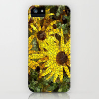 Mosaic Black  Eyed Susan iPhone Case by RokinRonda | Society6