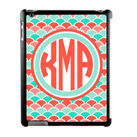 iPad Case- Scale Monogram- Personalized iPad Case, iPad 2,3,4, Monogram iPad Case