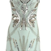 Karen Millen Papilionaceous Dress Lightcyan [karen millen evening dresses 004] - $556.00 : www.karenmillensaling.com