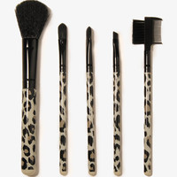 Leopard Cosmetic Brush Set | FOREVER 21 - 1031557712