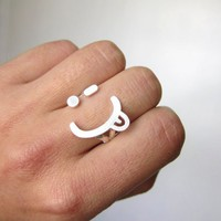 Naughty Happy Face Ring, Wink smile Adjustable Sterling Ring