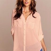 Two-pocket Boyfriend Shirt