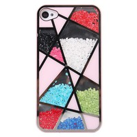 Cool Colourful Sliding Polygon Mirror Hard Cover Case For Iphone 4/4s