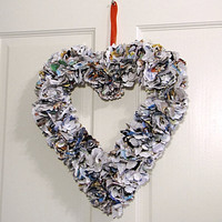 Valentine's day wreath heart for your Valentine by UnusuallyYours