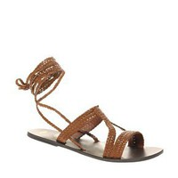 ASOS | ASOS FIJI Leather Tie Up Flat Sandals at ASOS