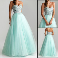 New Sweetheart Tulle A-Line Prom Evening Ball Gowns Quincenaera Dresses 2013 Hot