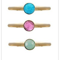 Ariel Gordon Jewelry Mini Rose Cut Stacking Rings at ShopGoldyn.com