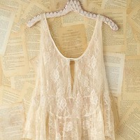 Free People Vintage Lace Tank Top