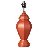Orange Ginger Jar Table Lamp Base (includes CFL bulb)