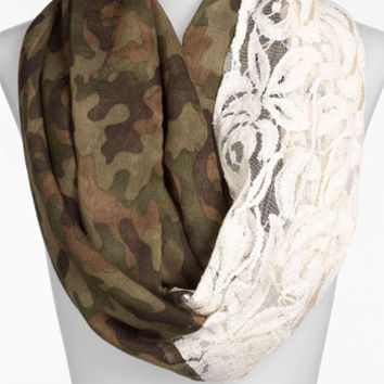 BP. Camo & Lace Circle Scarf | Nordstrom