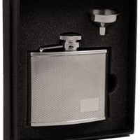 "Visol ""Sparkle"" Diamond Stainless Steel 4oz Flask Gift Set"