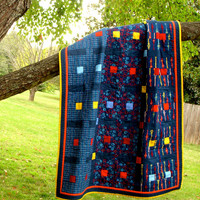 Blue Baby Quilt  Modern Crib Quilt by TwiggyandOpal on Etsy