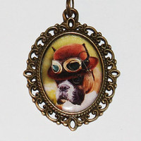 Steampunk Dog Necklace