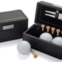 Visol Engravable Leather Golf Gift Set
