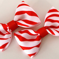 Pair of Sweet and Simple Red and White Zebra by SaraOlsenDesigns