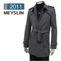 New Style Slim Long Wool Trench Coat
