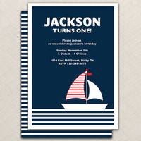 Nautical Invitations DIY Printable by EllisonReed