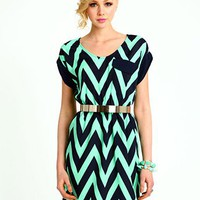 Zig Zag Shift Dress
