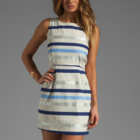 BB Dakota Delaine Stripe Dobby Dress in Multi Blue from REVOLVEclothing.com