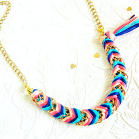 Carnival Candy  3 Looks In 1  Bracelet Turned Necklace by HelloZee