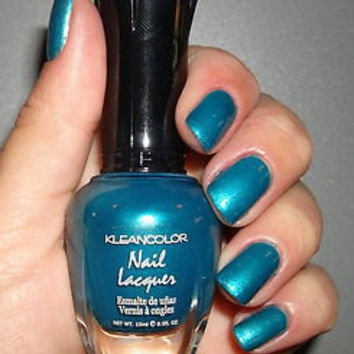 KLEANCOLOR NAIL POLISH~LACQUER ~ TEAL MARBLE 122 ~ STUNNING!