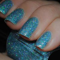 New! ♥ Holo BLUE ♥ KLEANCOLOR Nail Polish~ HOLOGRAPHIC Glitter Full Size!