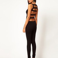 ASOS Slash Back Unitard at asos.com