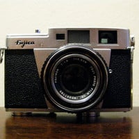 1958 Vintage Fujica 35ML 35mm Film Camera by timepassagesshop