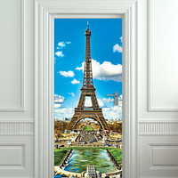 "Door Wall STICKER poster Paris Eiffel Tower France decole film 30x79""(77x200cm)"