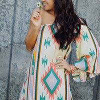 She's Fearless Tribal Dress: Ivory | Hope's