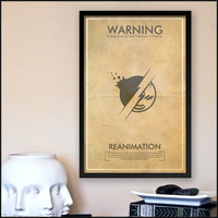 Fringe Science Warning Posters - Reanimation Inspired Vintage Iconography 11x17 Print