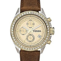 Fossil Decker Chronograph Watch - Women&#x27;s Watches | Buckle