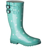 Women's Novel Dot Rain Boot - Mint