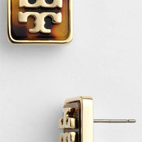 Tory Burch 'Brody' Logo Stud Earrings | Nordstrom