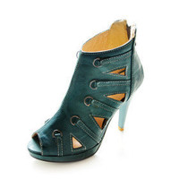 Leatherette Upper Stiletto Heel Ankle Boots Party Shoes - $29.88